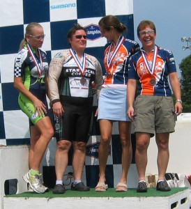 Team pursuit podium. Not bad for a pickup team!