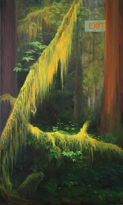 Exit Route, oil on canvas, 60in x 36in, 2011