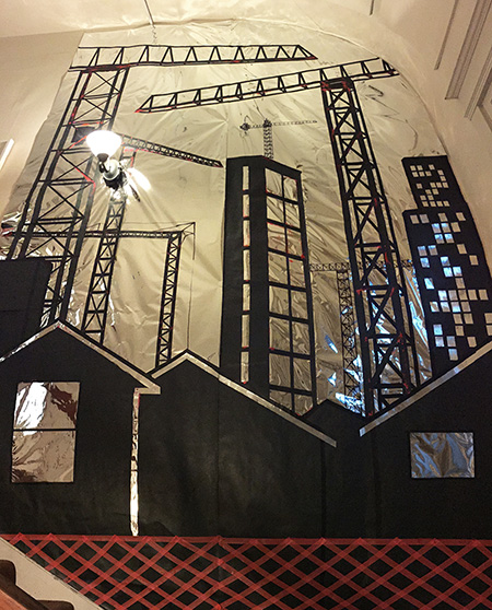 Installation: Skyline with Cranes